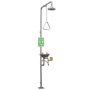 Speakman Traditional Series SE-625-SS Combination Stainless Steel Emergency Shower with SS Eye/face Wash