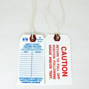 Speakman RPG99-0094 Maintenance Tags for Safety Products