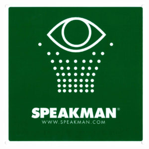Speakman SGN1 Emergency Eyewash Sign