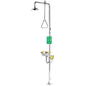 Speakman Traditional Series SE-625 Combination Stainless Steel Emergency Shower with Eye/face Wash