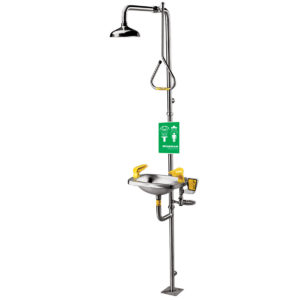 Speakman Select Series SE-623 Combination Stainless Steel Emergency Shower with Stainless Steel Bowl Eye/face wash