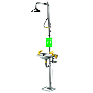 Speakman Select Series SE-623-HFO Combination Stainless Steel Emergency Shower with Stainless Steel Bowl Eye/face wash with Hand & Foot Activator