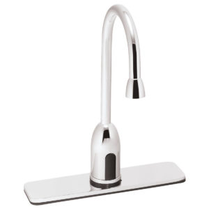 Speakman SensorFlo Gooseneck S-9220-CA-E AC Powered Faucet with 8 In. Deck Plate
